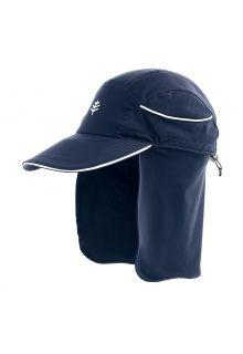 Coolibar---UV-Surfpet-met-nekbescherming-voor-volwassenen---Eisbach---Navy