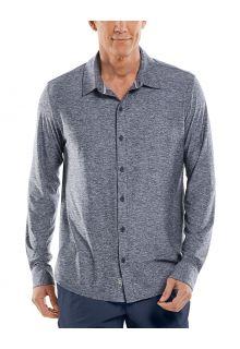 Coolibar---UV-werend-Overhemd-voor-heren---Vita-Button-Down---Navy