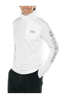Coolibar---UV-Zwemshirt-met-capuchon-voor-heren---Andros---Wit