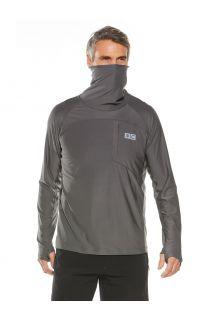 Coolibar---UV-Zwemshirt-met-halsbescherming-voor-heren---Andros---Rookgrijs