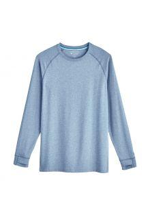 Coolibar---UV-Shirt-voor-heren---Longsleeve---LumaLeo---Lichtblauw