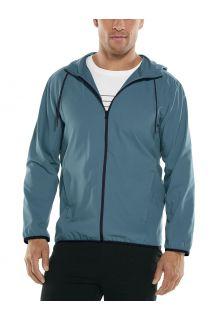 Coolibar---UV-werende-zomerjas-met-capuchon-voor-heren---Hullen---Blauw