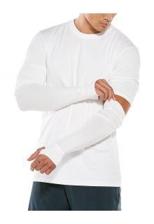 Coolibar---UV-werende-mouwen-voor-heren---LumaLeo---Wit