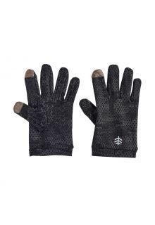 Coolibar---UV-werende-handschoenen-voor-kinderen---Y-Gannet---Houtskool-Camo