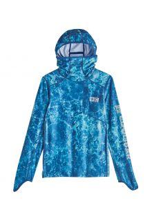 Coolibar---UV-Zwemshirt-met-capuchon-voor-kinderen---Andros---Blauw-Water