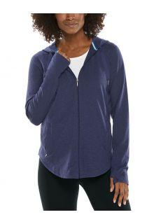 Coolibar---UV-werende-Full-zip-hoodie-voor-dames---LumaLeo-Zip-Up---Indigo