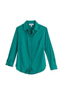 Coolibar---UV-werende-Blouse-voor-dames---Rhodos---Emerald-Teal