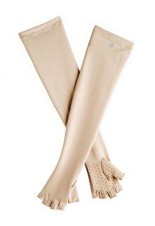 Coolibar---UV-vingerloze-handschoenen-met-lange-mouw-voor-volwassenen---Perpetua---Beige