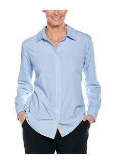 Coolibar---UV-werende-Blouse-voor-dames---Hepburn---Lichtblauw
