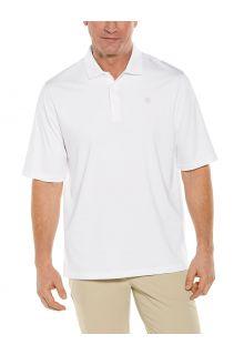 Coolibar---UV-Sport-Polo-voor-heren---Erodym-Golf---Wit