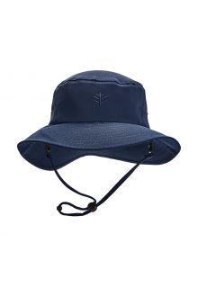 Coolibar---UV-werende-Bucket-Hoed-voor-kinderen---Caspian---Navy