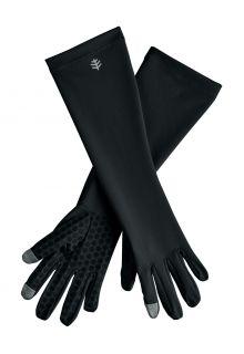 Coolibar---UV-werende-handschoenen-met-mouw-voor-volwassenen---Bona---Zwart