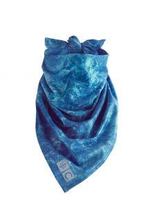 Coolibar---UV-werende-bandana-voor-volwassenen---Abacos-Aqua---Blauw-water