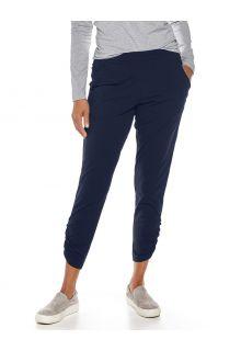 Coolibar---Casual-UV-broek-voor-dames---Café-Ruche---Navy