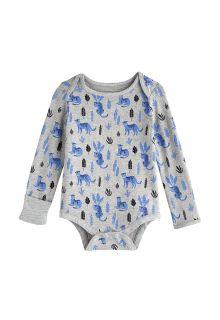 Coolibar---UV-werende-romper-voor-baby's---LumaLeo-Bodysuit---Grijs-luipaard