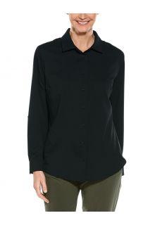 Coolibar---UV-werende-Blouse-voor-dames---Hepburn---Zwart