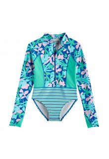 Coolibar---UV-longsleeve-badpak-voor-meisjes---Koko---Marlijnblauw
