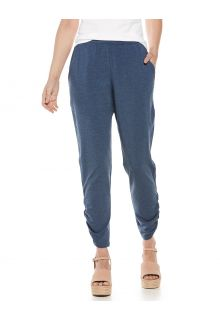 Coolibar---Casual-UV-broek-voor-dames---Café-Ruche---Denimblauw