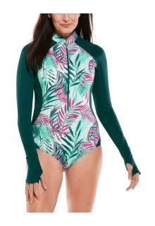 Coolibar---UV-badpak-met-lange-mouwen-voor-dames---Escalante---Summer-Palms
