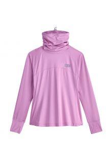 Coolibar---UV-Zwemshirt-met-halsbescherming-voor-dames---Paros---Lavendel