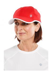 Coolibar---UV-Sportcap-voor-volwassenen---Lenny---Rood/Wit