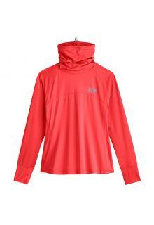Coolibar---UV-Zwemshirt-met-halsbescherming-voor-dames---Paros---Warm-Koraal