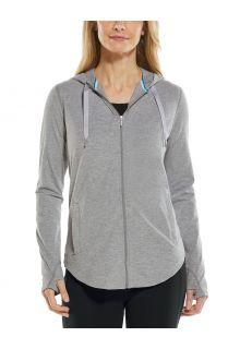 Coolibar---UV-werende-Full-zip-hoodie-voor-dames---LumaLeo-Zip-Up---Grijs
