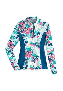 Coolibar---UV-Zwemshirt-voor-dames---Escalante-Zip---Multicolor
