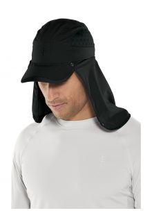 Coolibar---UV-Sportcap-met-nekbescherming-voor-volwassenen---Agility---Zwart