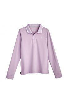 Coolibar---UV-Sport-Polo-voor-kinderen---Longsleeve---Erodym-Golf---Lavendel