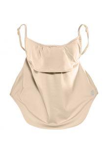 Coolibar---UV-werend-gelaagd-gezichtsmasker-voor-volwassenen---Vermilion---Beige