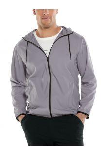 Coolibar---UV-werende-zomerjas-met-capuchon-voor-heren---Hullen---Donkergrijs