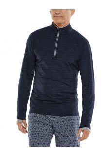 Coolibar---UV-Zwemshirt-met-halve-rits-voor-heren---Ultimate---Navy