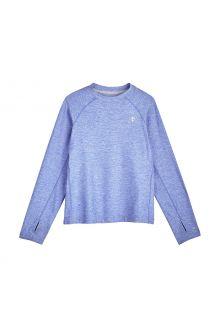 Coolibar---UV-Sportshirt-voor-kinderen---Longsleeve---Agility---Aura-Blauw