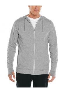 Coolibar---UV-werende-full-zip-hoodie-voor-heren---LumaLeo-Zip-Up---Grijs