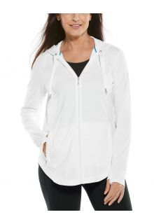 Coolibar---UV-werende-Full-zip-hoodie-voor-dames---LumaLeo-Zip-Up---Wit