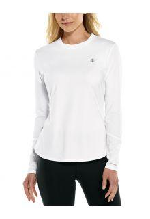 Coolibar---UV-Sportshirt-voor-dames---Longsleeve---Match-Point---Wit