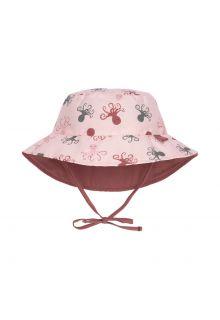 Lässig---Omkeerbare-UV-Bucket-hoed-voor-baby's---Octopus---Roze