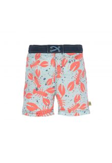 Lässig---UV-zwemshorts-voor-jongens---kreeft---blauw-oranje