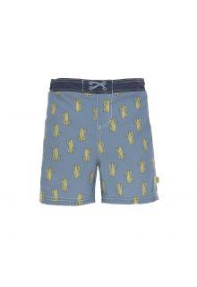 Lässig---UV-zwemshorts-voor-jongens---cactus---blauw-groen
