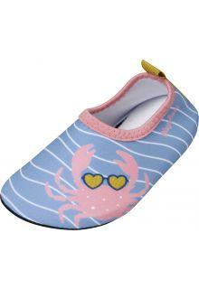 Playshoes---Uv-waterschoenen-voor-meisjes---Krab---Lichtblauw/roze