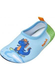 Playshoes---Uv-waterschoenen-voor-jongens---Dino---Lichtblauw/Groen