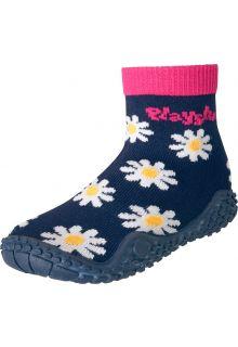 Playshoes---Zwemsokken-voor-meisjes---Margriet---Navy-blauw-/-roze