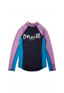 O'Neill---UV-zwemshirt-voor-meisjes---Longsleeve---Skins---Donkerblauw