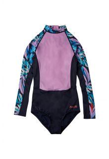 O'Neill---UV-Surf-badpak-voor-meisjes---Eendelig---Donkerblauw/Roze/AOP