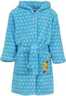 Playshoes---Fleece-badjas-met-capuchon---'de-muis'---blauw
