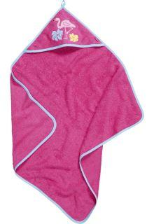 Playshoes---Badhanddoek-met-capuchon-voor-baby's---Flamingo---Roze