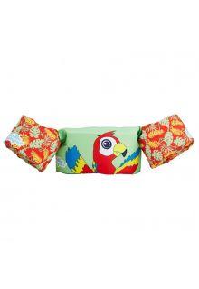 Puddle Jumpers - Verstelbare zwembandjes met papegaai - Mint - voorkant