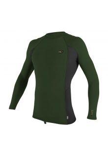 O'Neill---UV-shirt-voor-heren---Longsleeve---Premium-Rash---Olijfgroen