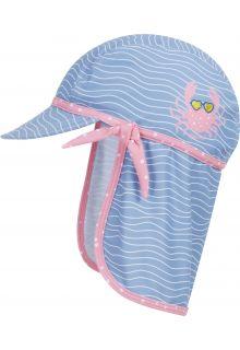 Playshoes---UV-zonnepet-voor-meisjes---Krab---Lichtblauw/roze